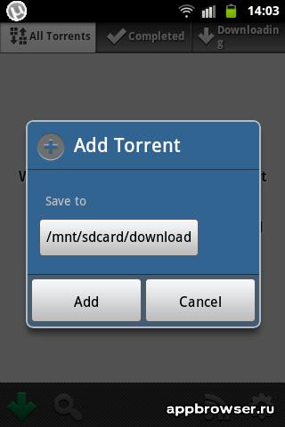 utorrent добавление торрентаta