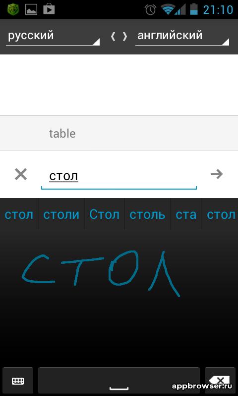 Переводчик Google графический перевод