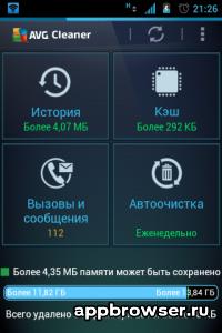Приложение AVG Cleaner