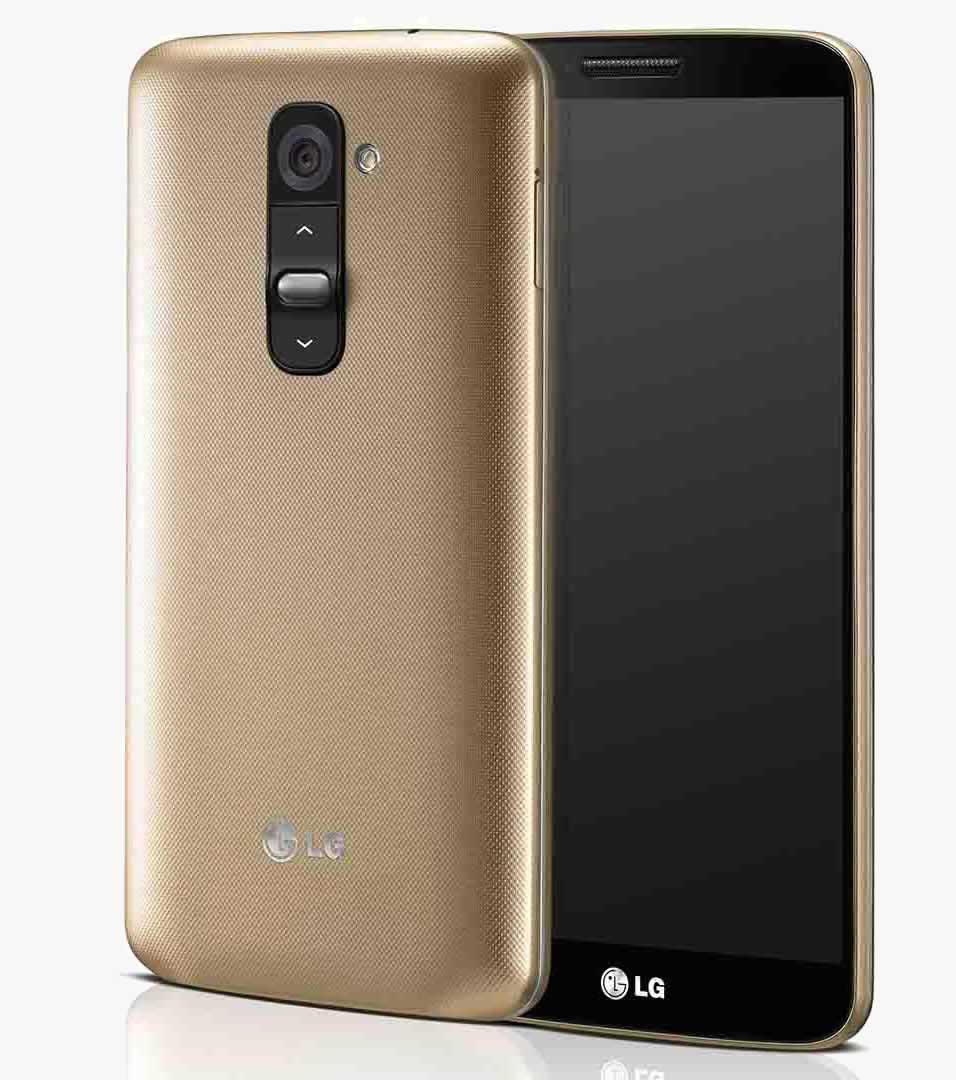 LG G2 золотого цвета