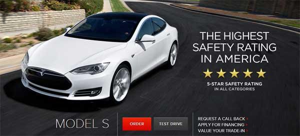 Электромобиль Tesla Modes S