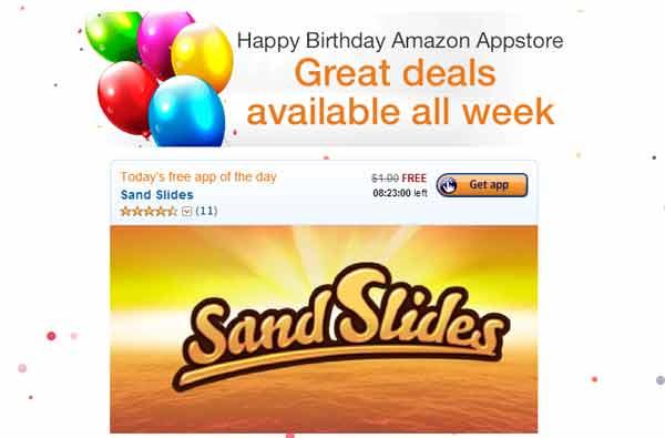 Трехлетие Amazon AppStore