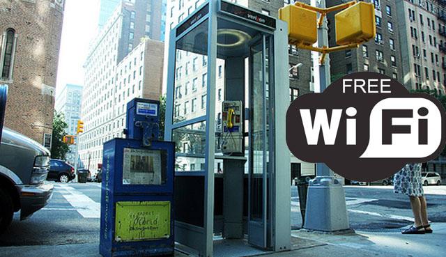телефонная будка в Нью-Йорке