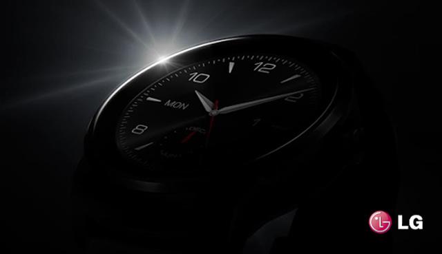 Круглые часы от  LG