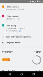 Google Fit в телефоне