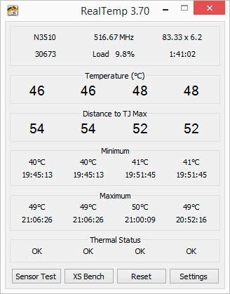 Тест температуры компьютера