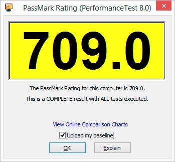 Тест скорости мини компьютера - Результат