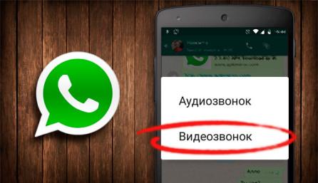 Видеозвонок по WhatsApp