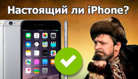 настоящий ли айфон