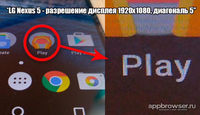 пиксели дисплея Nexus 5
