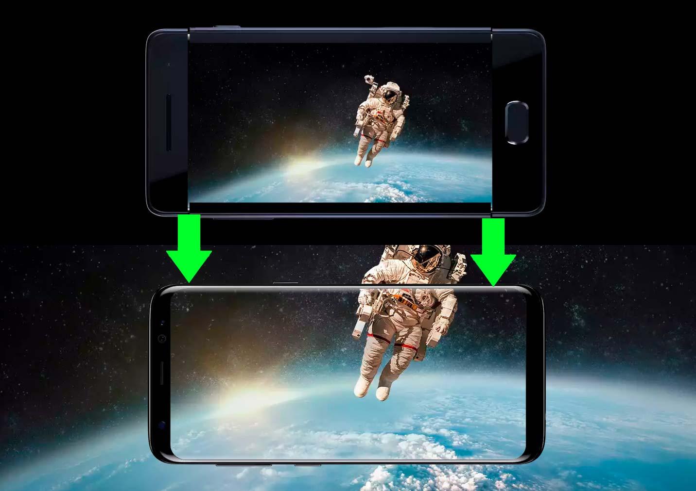 Samsung Galaxy s8 - безрамочный дизайн