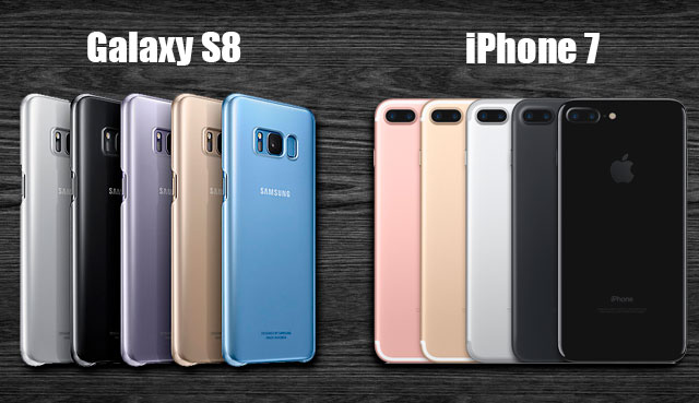 Galaxy S8 - iPhone 7 цвета