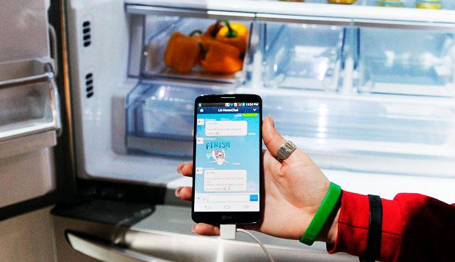 Телефон и холодильник